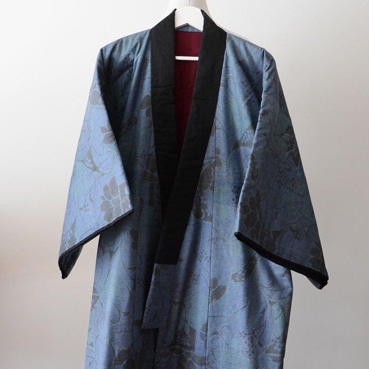 丹前 褞袍 綿入れ半纏 着物 花柄 ジャパンヴィンテージ 昭和 | Hanten Padded Kimono Tanzen Dotera Floral Japanese Vintage