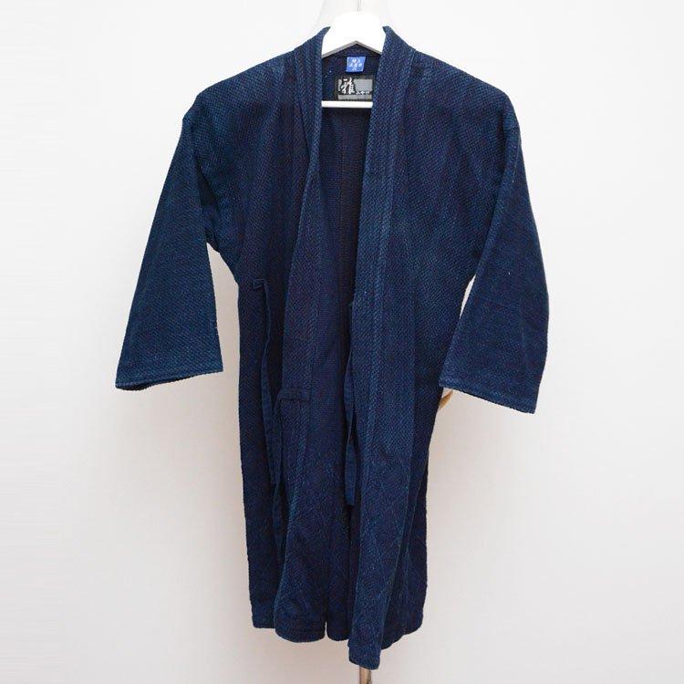 剣道着 藍染 刺し子 2L ウォッシュ加工 フジダルマ | Kendo Jacket Indigo Sashiko Fabric Cotton Wash Fuji Daruma