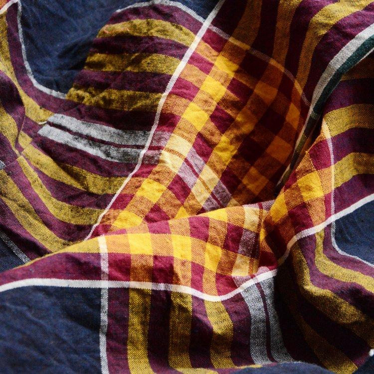 古布 木綿 藍染 格子 ジャパンヴィンテージ ファブリック テキスタイル 30〜40年代 | Japanese Fabric Cotton Vintage Textile Indigo