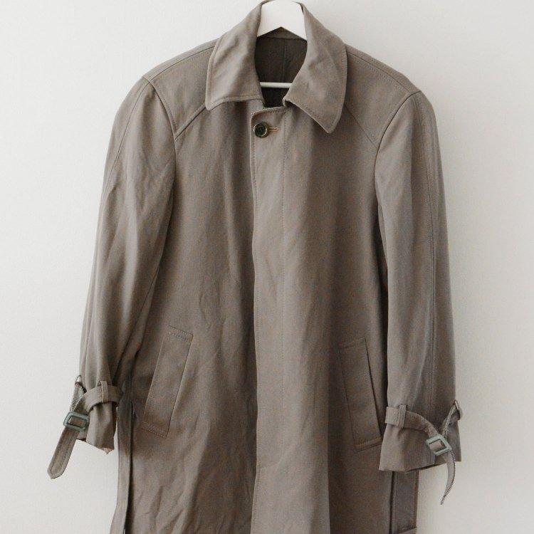 ステンカラーコート ギャバジン ウール ジャパンヴィンテージ 80〜90年代 | Japan Vintage Wool Gabardine Coat 80〜90s