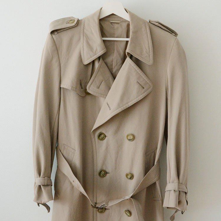 トレンチコート ジャパンヴィンテージ ウール ギャバジン 80年代 | Trench Coat Japan Vintage Wool Gabardine 80s