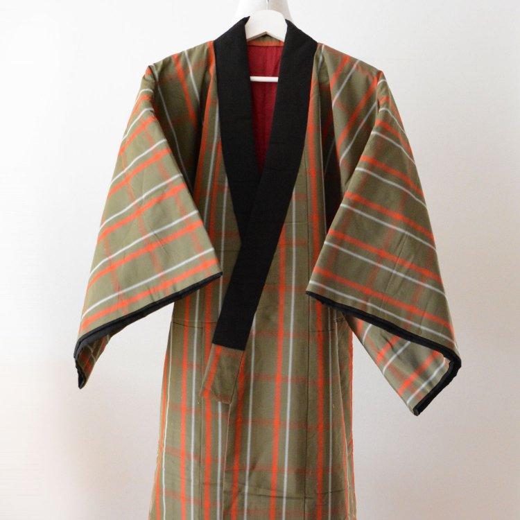 丹前 綿入れ半纏 着物 褞袍 掻巻 ジャパンヴィンテージ 昭和 | Tanzen Hanten Padded Kimono Japan Vintage Dotera kaimaki