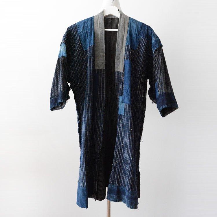 野良着 襤褸 藍染 つぎはぎ ジャパンヴィンテージ クレイジーパターン 明治 大正 | Noragi Jacket Boro Indigo Kimono Patchwork Japan Vintage