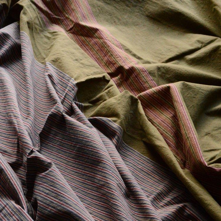風呂敷 大判 古布 木綿 縞模様 ジャパンヴィンテージ ファブリック テキスタイル 昭和中期 | Furoshiki Wrapping Cloth Japanese Fabric Vintage