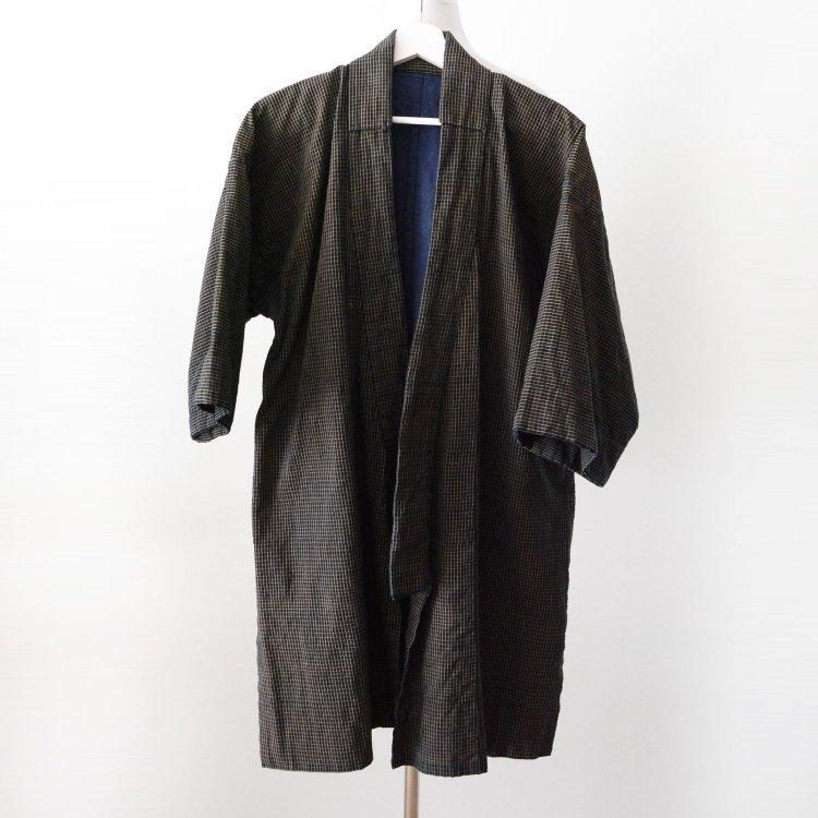 野良着 藍染 木綿 着物 格子 ジャパンヴィンテージ 大正 昭和 古着 | Noragi Jacket Men Indigo Kimono Japanese Vintage Cotton