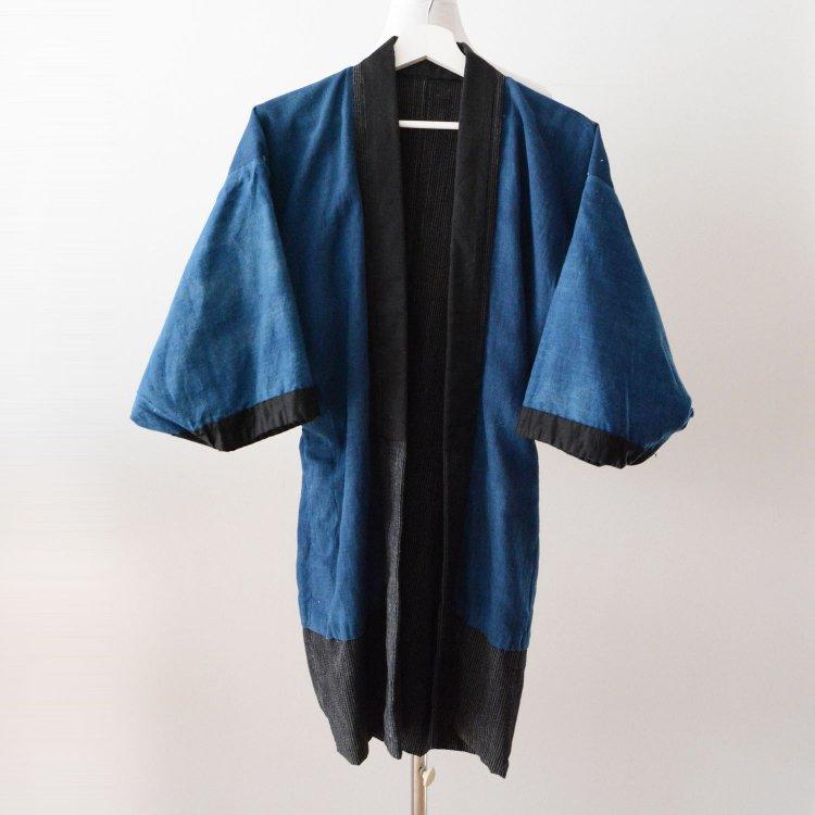 野良着 藍染 着物 縞模様 ジャパンヴィンテージ 大正 昭和 | Noragi Jacket Indigo Kimono Japan Vintage Stripe