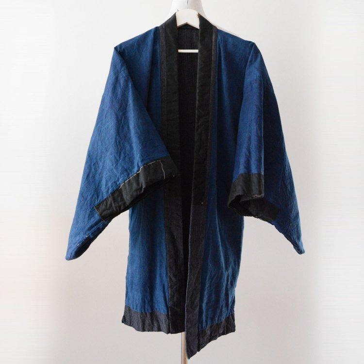 藍染 着物 縞模様 無地 ジャパンヴィンテージ 大正 昭和 | Indigo Kimono Jacket Japan Vintage Stripe Plain