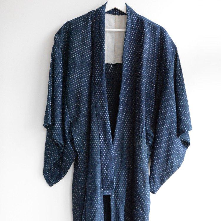 麻 着物 藍染 絣 ジャパンヴィンテージ 大正 昭和 | Indigo Kimono Kasuri Fabric Hemp Japan Vintage 20〜30s