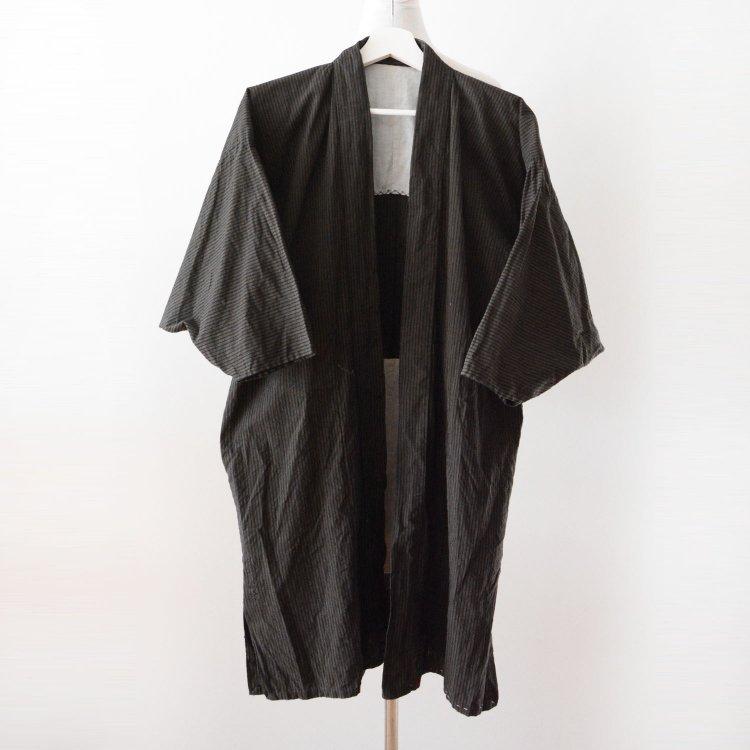 着物 野良着 藍染糸 縞模様 ジャパンヴィンテージ 大正 昭和 | Kimono Japanese Vintage Noragi Jacket Indigo Yarn Cotton Stripe