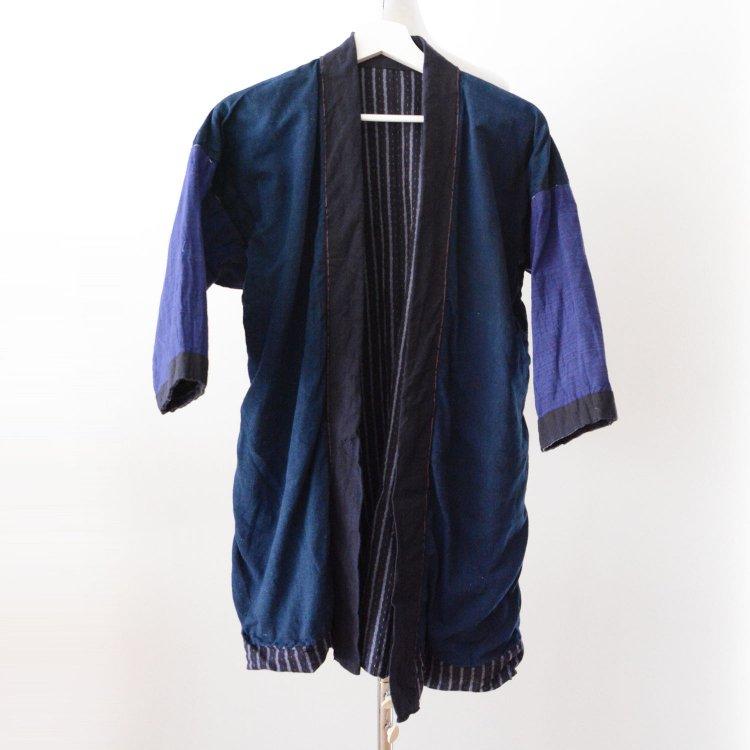 野良着 藍染 2トーン クレイジーパターン ジャパンヴィンテージ 大正 昭和   Noragi Jacket Indigo Japan Vintage Crazy Pattern Two Tone