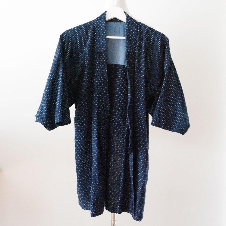 野良着 古着 藍染 蚊絣 木綿 着物 ジャパンヴィンテージ 大正 昭和 | Noragi Jacket Kasuri Fabric Japan Vintage Indigo kimono