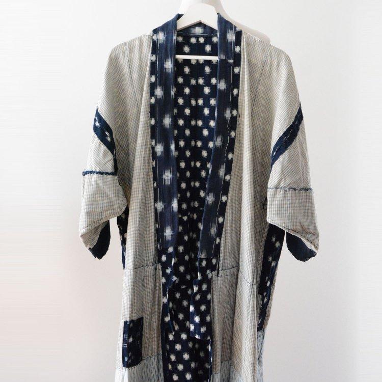 藍染 着物 絣 クレイジーパターン つぎはぎ ジャパンヴィンテージ 明治 昭和 | Indigo Kimono Jacket Kasuri Crazy Pattern Japan Vintage