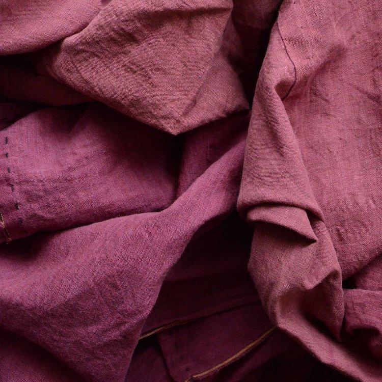 古布 木綿 大判 ジャパンヴィンテージ ファブリック テキスタイル 昭和 赤紫蘇 | Japanese Fabric Cotton Vintage Early Showa