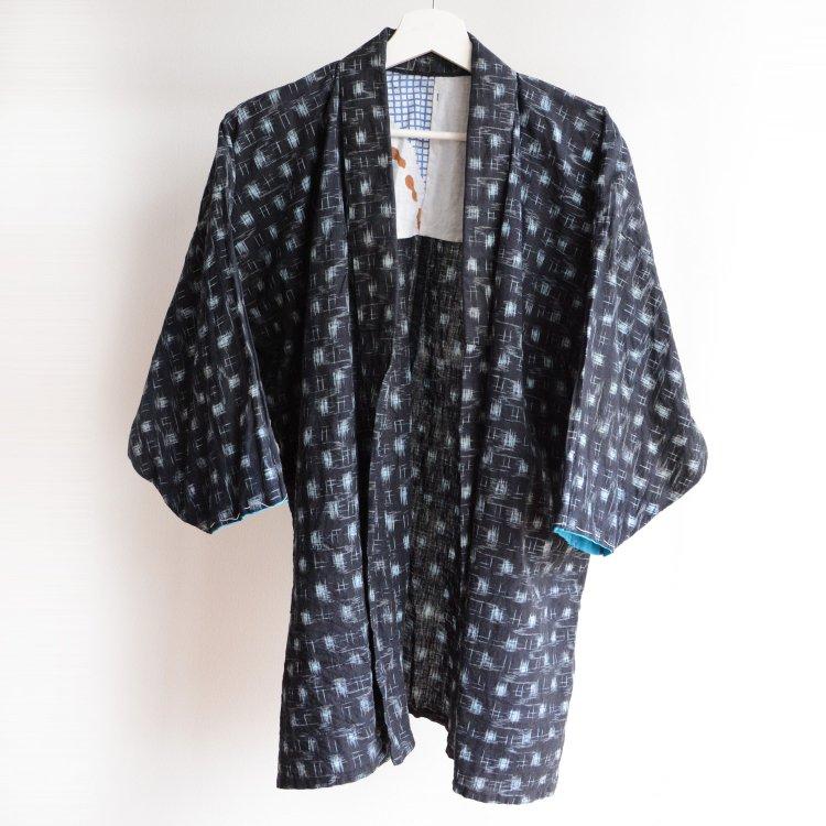 野良着 着物 絣 手ぬぐい 木綿 ジャパンヴィンテージ 昭和中期 | Kasuri Noragi Jacket Tenugui Japan Vintage Kimono Cotton Fabric