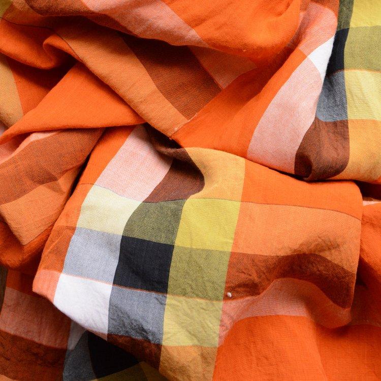 古布 布団皮 ジャパンヴィンテージ ファブリック テキスタイル 昭和中期 | Japanese Fabric Vintage Futon Cover Textile Check Pattern