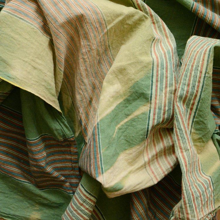 風呂敷 大判 古布 木綿 日焼け ジャパンヴィンテージ ファブリック テキスタイル 昭和   Furoshiki Wrapping Cloth Japanese Fabric Vintage