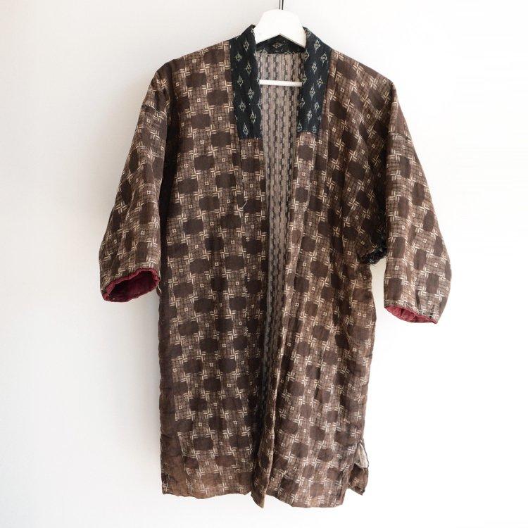 綿入れ半纏 絣 木綿 ジャパンヴィンテージ 大正 昭和 | Hanten Jacket Padded Kimono Kasuri Fabric Japan Vintage 20〜30s