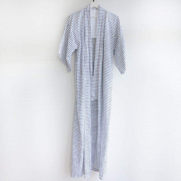 <img class='new_mark_img1' src='https://img.shop-pro.jp/img/new/icons8.gif' style='border:none;display:inline;margin:0px;padding:0px;width:auto;' />浴衣 ドット柄 水玉模様 着物 木綿 ジャパンヴィンテージ 昭和 | Yukata Kimono For Men Japan Vintage Dot Pattern 60〜70s