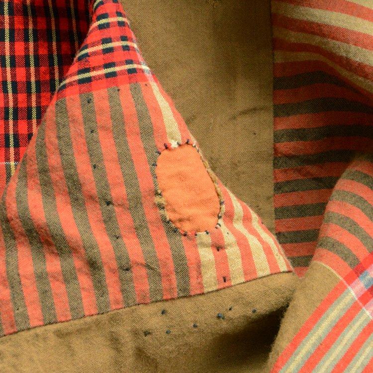 布団皮 古布 ジャパンヴィンテージ ファブリック テキスタイル 襤褸 昭和 | Japanese Fabric Vintage Futon Cover Textile Boro Repair