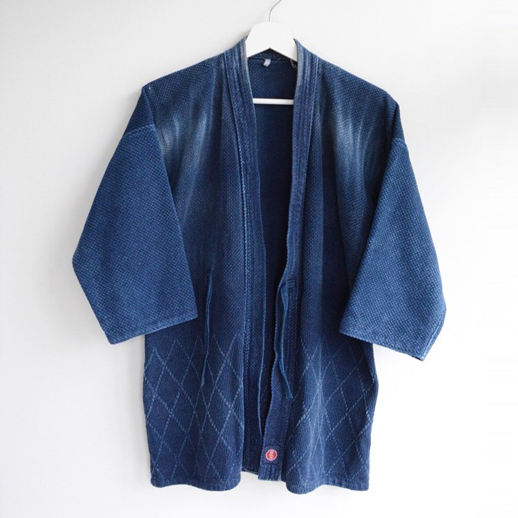 剣道着 藍染 刺し子 木綿 ジャパンヴィンテージ インディゴブルー 武蔵号 | Kendo Gi Sashiko Jacket Japan Vintage Indigo Blue 90s
