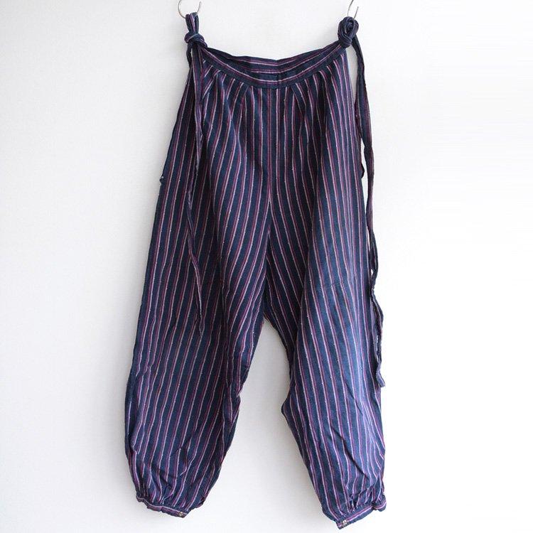 モンペ 野良着 パンツ 着物 木綿 縞模様 ジャパンヴィンテージ 昭和   Monpe Pants Kimono Japanese Vintage Cotton Stripe 30s 40s