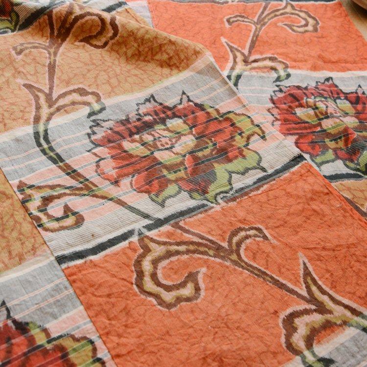 古布 木綿 布団皮 ジャパンヴィンテージ ファブリック テキスタイル 花柄 昭和   Japanese Fabric Vintage Futon Cover Floral Textile