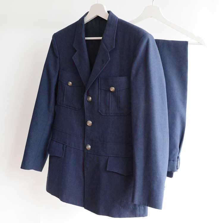 JR東日本 制服 運転士 セットアップ 上下セット ジャパンヴィンテージ 80年代 | Railroad Driver Uniform Japan Vintage Set Up 80s