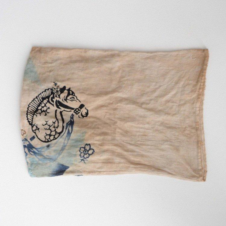 古布 木綿 袋 馬 襤褸 ジャパンヴィンテージ 大正 昭和   Japanese Fabric Vintage Cotton Bag Boro Textile Horse