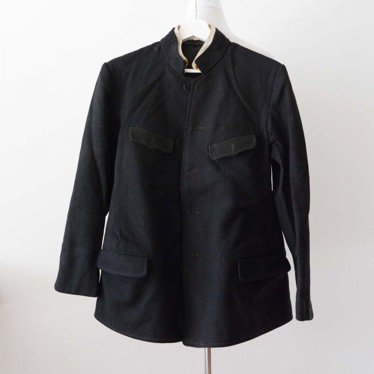 ウールジャケット 黒 消防組? 組頭 ジャパンヴィンテージ 20〜30年代 上衣 外套 | Firefighter Jacket Leader Japanese Vintage Clothing