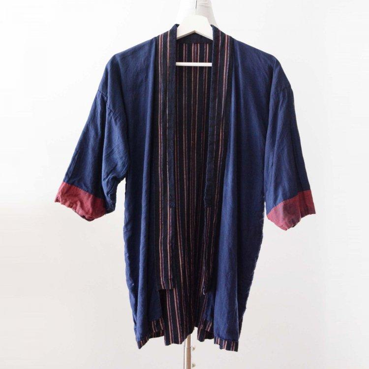 野良着 古着 木綿 縞模様 着物 ジャパンヴィンテージ 30〜40年代 | Noragi Jacket Cotton Stripe Kimono Japan Vintage 30〜40s