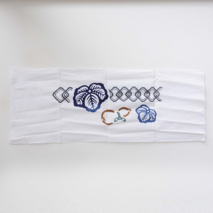 手ぬぐい 古布 木綿 瓢箪 つなぎ柄 ジャパンヴィンテージ ファブリック テキスタイル 平成   Tenugui Cloth Japanese Fabric Cotton Vintage
