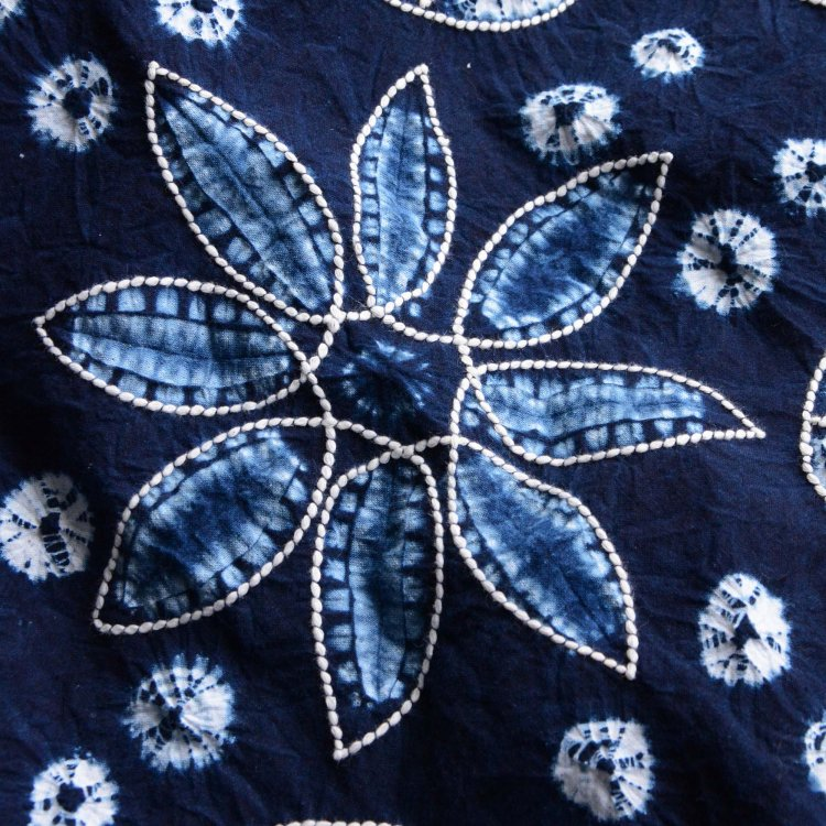 絞り染め 藍染 布 クロス インディゴ ファブリック 古布 ジャパンヴィンテージ 平成 | Shibori Fabric Indigo Dyed Cotton Japan Vintage