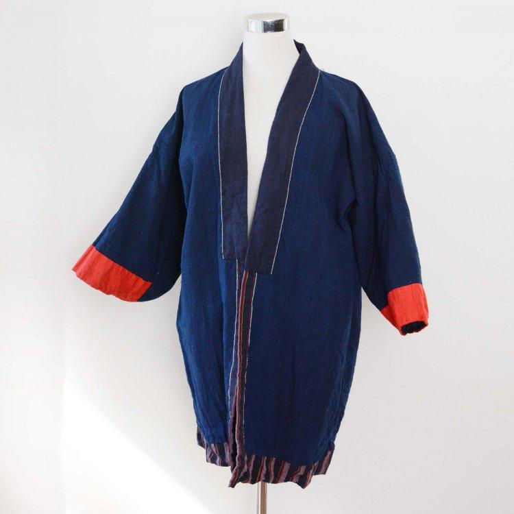 <img class='new_mark_img1' src='https://img.shop-pro.jp/img/new/icons8.gif' style='border:none;display:inline;margin:0px;padding:0px;width:auto;' />野良着 古着 藍染 着物 木綿 ジャパンヴィンテージ 大正 昭和 | Noragi Indigo Kimono Jacket Cotton Japan Vintage Farm Workwear