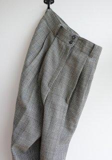 <img class='new_mark_img1' src='https://img.shop-pro.jp/img/new/icons50.gif' style='border:none;display:inline;margin:0px;padding:0px;width:auto;' />1970〜80年代 ジャパン ヴィンテージ グレンチェック 千鳥格子 レディース タック ウール スラックス Vintage Glencheck Ladies Wool Slacks