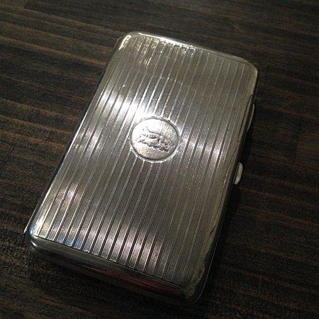 Antique UK Sterling Silver Cigar Caseの画像