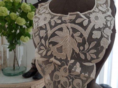 チュールレース付け襟の画像