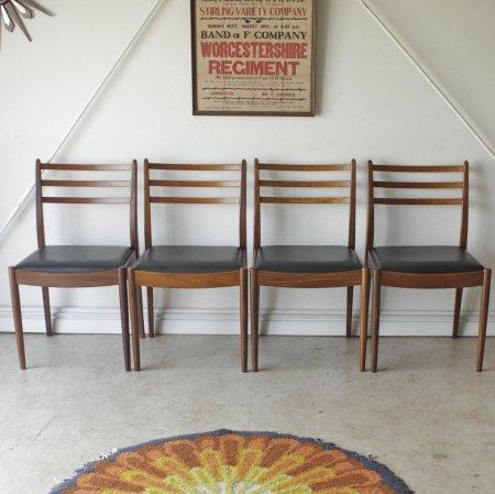 G-planジープラン・ダイニングチェア4脚セット・イギリス製ビンテージ家具の画像