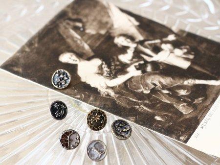 ヴィクトリアンボタンとカードのセットB の画像
