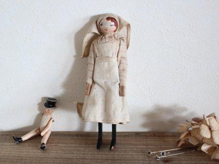Nurse Wooden Peg Doll/Pomona Toyの画像