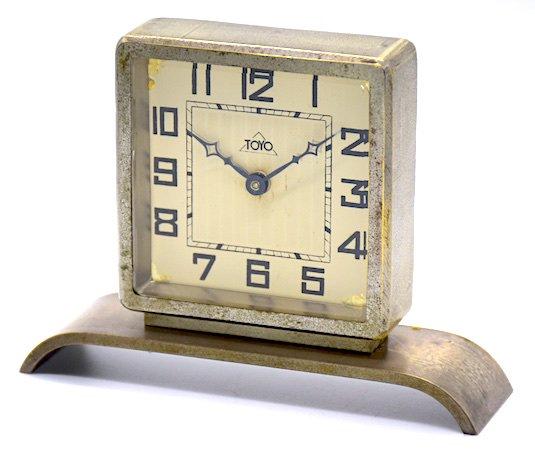 東洋時計 角型金属枠置時計 昭和初期頃【003】の画像