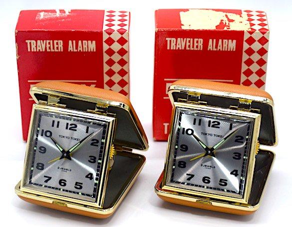 東京時計 トラベルクロック『トラベラエリー』箱・説明書付 昭和40年頃【020】の画像