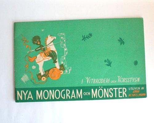 スウェーデン製刺繍のパターンブックの画像