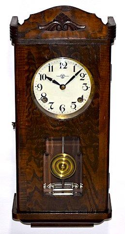 三工舎 宮型柱時計 昭和初期頃【W260】の画像