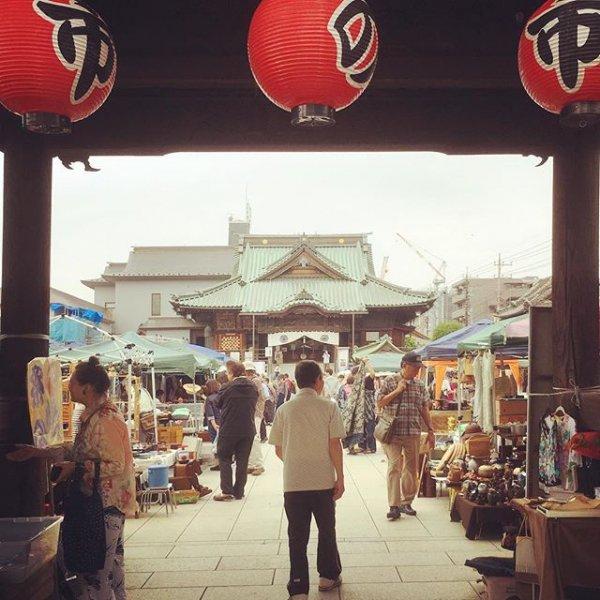 川越成田不動尊蚤の市の画像