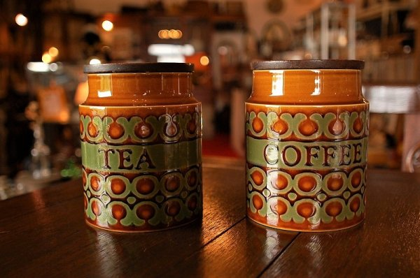 【 Hornsea 】Bronte Coffee and Tea Canister ホーンジー・ブロンテキャニスターセットの画像