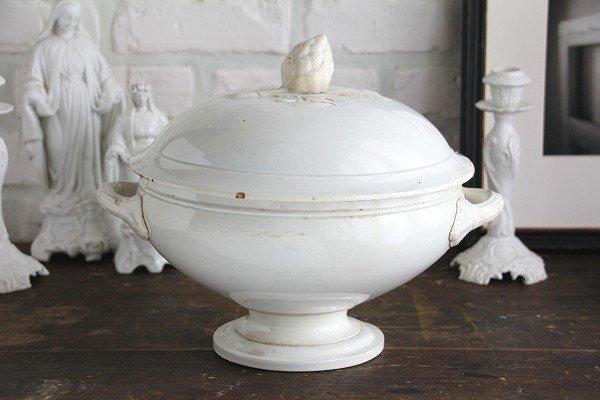 アンティーク陶器スーピエールホワイトの画像