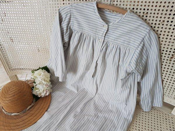 ストライプリネンナイトドレスの画像