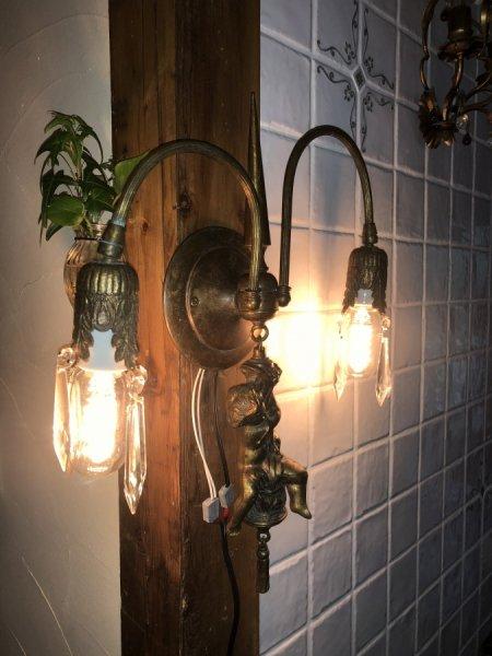 スペインアンティーク2灯式ウォールライト Bargainの画像