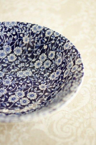 Burleigh バーレイ ブルー キャリコ スープボウル [BLC3]の画像
