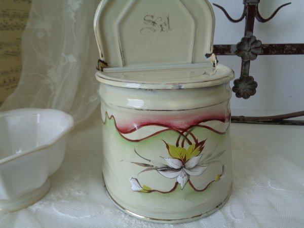 アールヌーボーホーロー花柄セル缶の画像